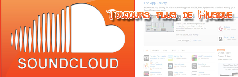 Soundcloud, Youtube en musique