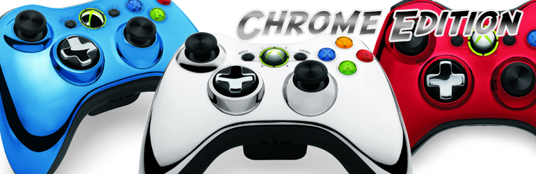 Manette Xbox 360 série chrome