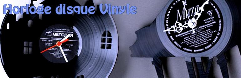 Horloge avec disque Vinyle